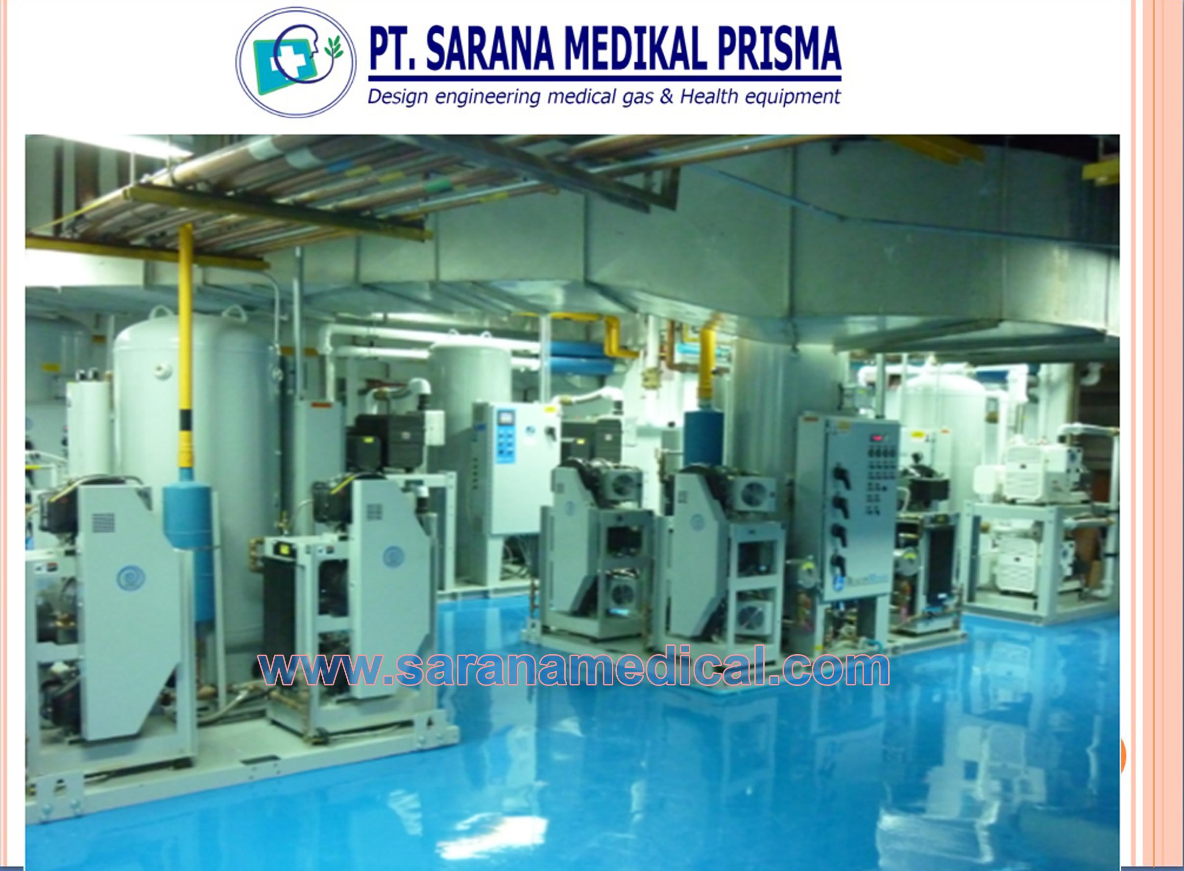 Penentuan ruang sentral gas medis
